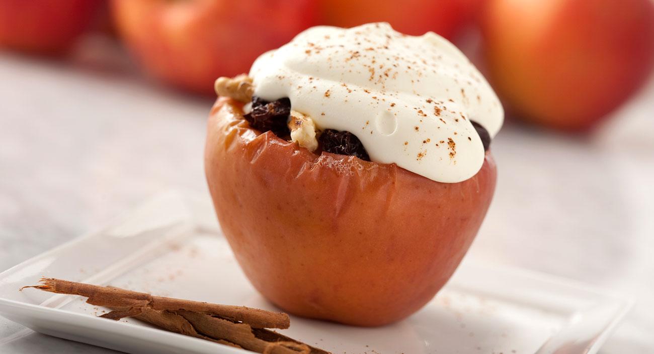 Pommes au four farcies