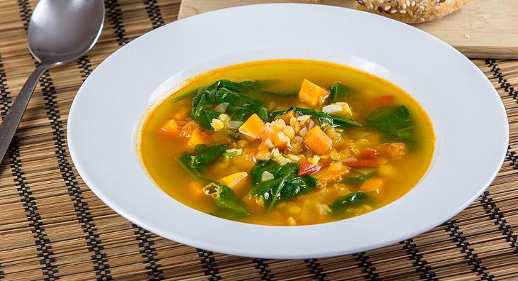 Mung Dal Gemüse Suppe