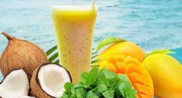 Kokos-Mango-Minze-Drink