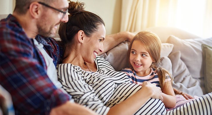 Glückliche Schwangerschaft