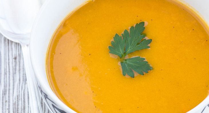 Süsskartoffel-Kokosmilch-Suppe