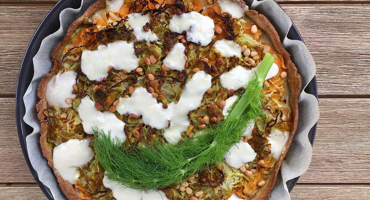 Fenchel-Kürbis-Gemüsewähe