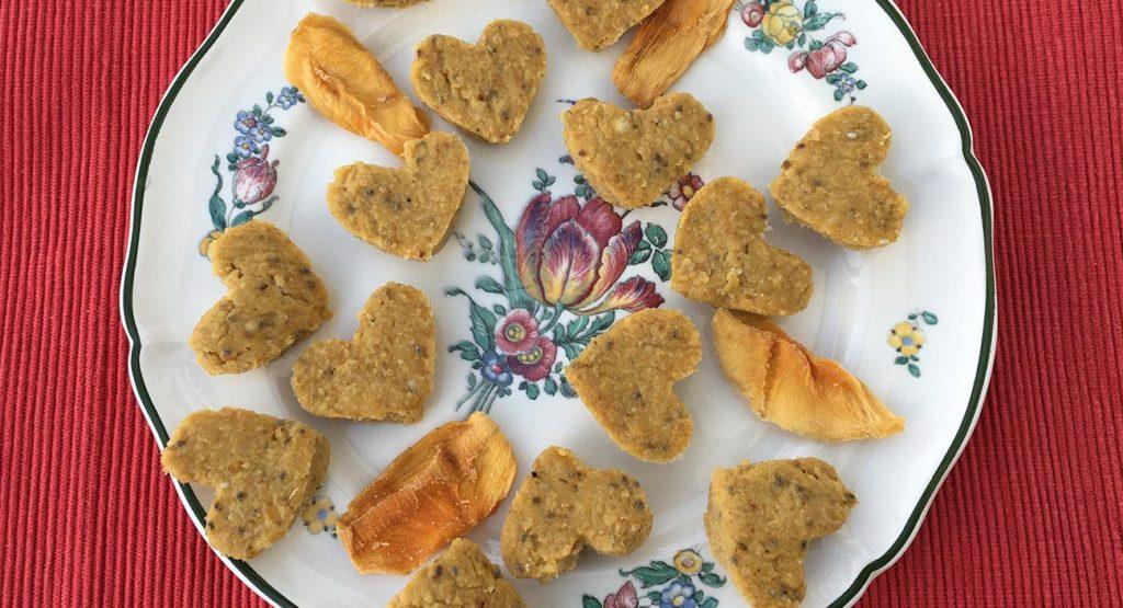 Mango-Herzen für den Lieblingsmenschen