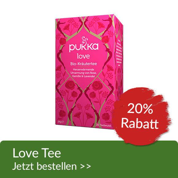 Produktaktion 20% auf Pukka Love Tee
