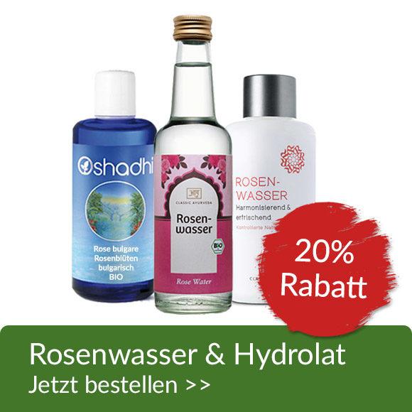 Rosenwasser & Hydrolat 20% Rabatt